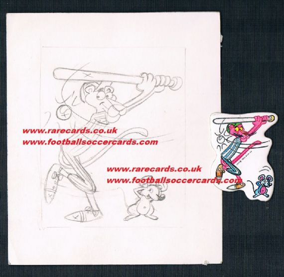 1984 matutano baseball Pink Panther & artwork